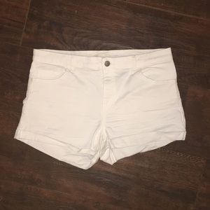 Worn once- white jean shorts